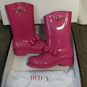 "Valentino ""RED"" Womens Rain Boots.PINK Size 39 / 9"